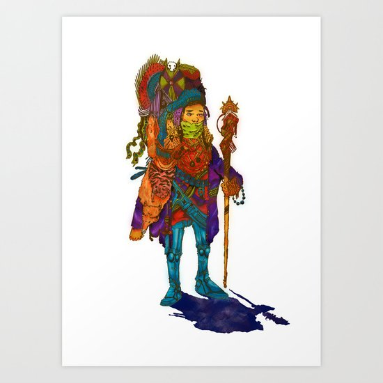 Nomad Funk Legs Robo Sandal Brother Art Print