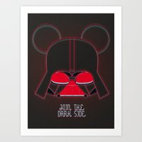vader Art Prints featuring Vader  by danvinci