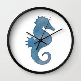Watercolor Seahorse by Lo Lah Studio Wall Clock