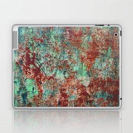 Abstract Rust on Turquoise Painting Laptop & iPad Skin