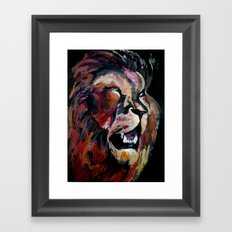 Friendly Lion Framed Art Print