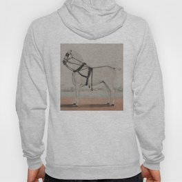 Vintage Carriage Horse Painting (1845) Hoody