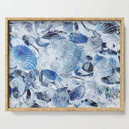 Shells V03 BLUE Serving Tray