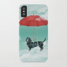 Dachshund chute iPhone X Slim Case