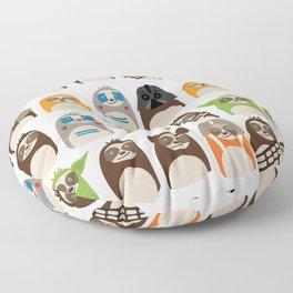 Science Fiction Sloths Floor Pillow