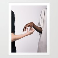 hands Art Prints featuring Hands by Chris Schoonover