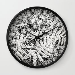 Moss and Ferns Wall Clock