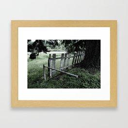 slightly green Framed Art Print