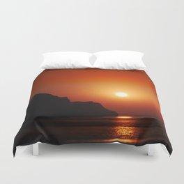 Sunset at the sea landscape Duvet Cover