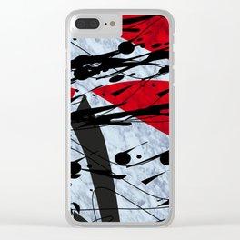 Zick Zack I Clear iPhone Case