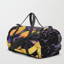 BLACK & YELLOW BUTTERFLIES VIGNETTE ABSTRACT ART Duffle Bag