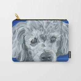 Beau the Poodle Pet Portrait Painting Carry-All Pouch