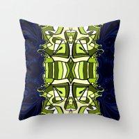 moulin rouge Throw Pillows featuring Moulin Vert by Carter Herrington