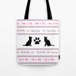 Adopt. Dont. Shop. Christmas Sweater Tote Bag