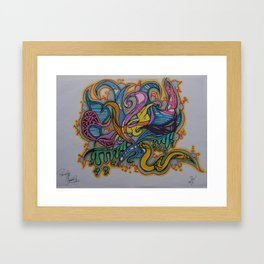 カラフル Framed Art Print