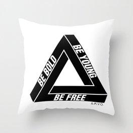 Penrose Triangle Throw Pillow
