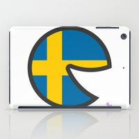 sweden iPad Cases featuring Sweden Smile by onejyoo