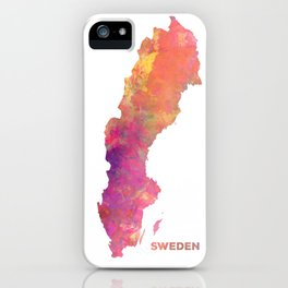 Sweden map #sweden #map iPhone Case