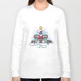 Santa obeys the Moon Long Sleeve T-shirt