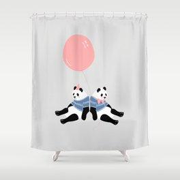 Happy Birthday Panda Shower Curtain