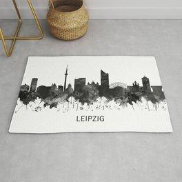 Leipzig Germany Skyline BW Rug