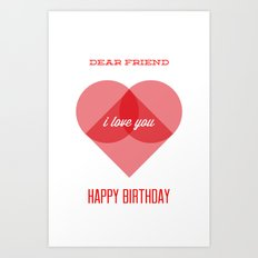 Birthday Wishes for My Dearest Friend Art Print