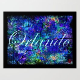 Downtown Orlando Canvas Text Art Print