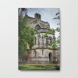 Rosslyn Chapel outside Edinburgh, Scotland Metal Print