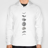 moon phases Hoodies featuring Phases of the Moon by Efty