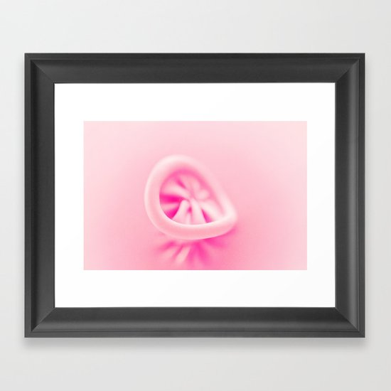 Pastel Pink Balloon Framed Art Print