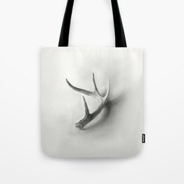 Lost and Found - Deer Antler Pencil Drawing Tote Bag
