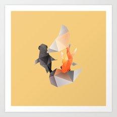 Butterfly Tail Goldfish. Art Print