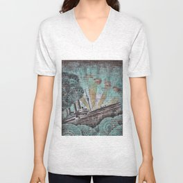 the boat wall Unisex V-Neck