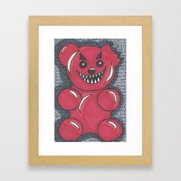 Don't Feed The Gummy Bears! Framed Art Print