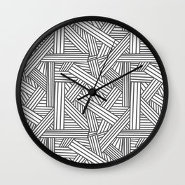 Sketchy Abstract (Grey & White Pattern) Wall Clock