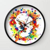 marylin monroe Wall Clocks featuring Marylin Monroe by Psyca