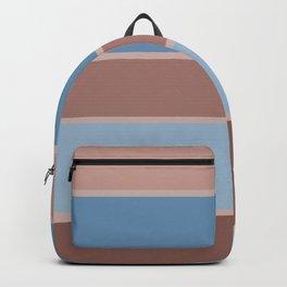 Brown-blue stripe Backpack
