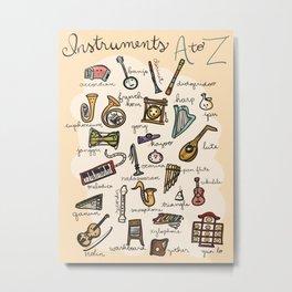 Instruments A to Z Metal Print