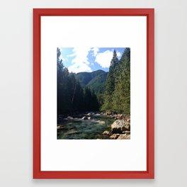 A river runs through it Framed Art Print