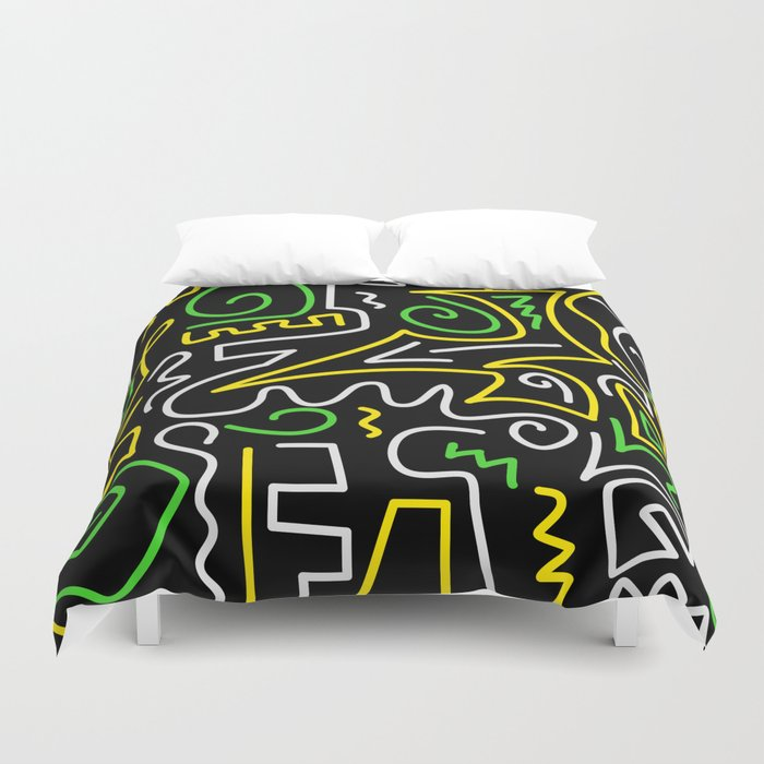 A-Mazing Neon Duvet Cover