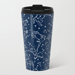 Constellations animal constellations stars outer space night sky pattern by andrea lauren Travel Mug
