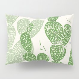 Linocut Cactus #1 Pillow Sham