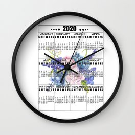 2020 new year calendar Wall Clock