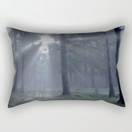 Blue forest - North Kessock, The Highlands, Scotland Rectangular Pillow