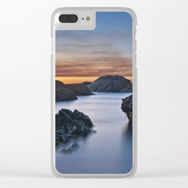 Sunset on the North beach in Viana do Castelo, Portugal Clear iPhone Case