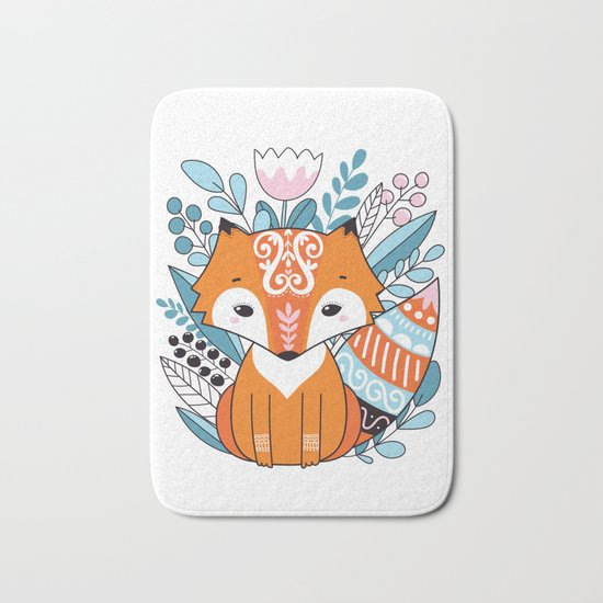 Cute fox Bath Mat