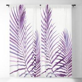 Purple Palms Blackout Curtain