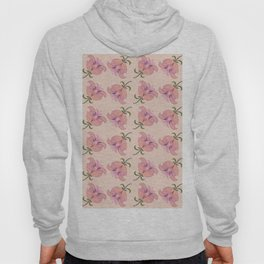 Peace Offering 2 Hand Painted Oil Floral, Peach Background Hoody