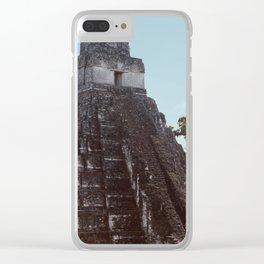 Mayan Pyramid Clear iPhone Case