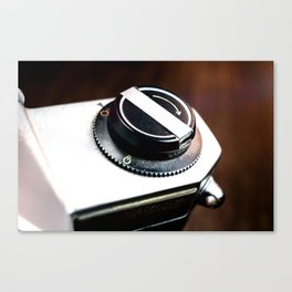 Vintage Photography Camera Detail Canvas Print